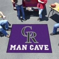 Colorado Rockies Man Cave Tailgate Mat