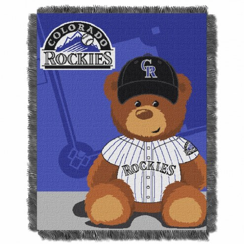 Colorado Rockies MLB Baby Blanket