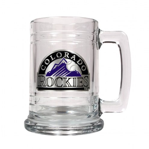 Colorado Rockies MLB 2-Piece Glass Tankard Beer Mug Set