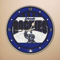 Colorado Rockies MLB Stained Glass Wall Clock
