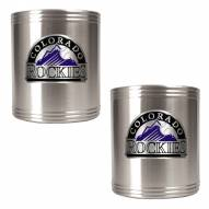 Colorado Rockies MLB Stainless Steel Can Holder 2-Piece Set