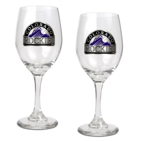 Colorado Rockies MLB 2-Piece Wine Glass Set