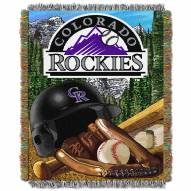 Colorado Rockies MLB Woven Tapestry Throw Blanket