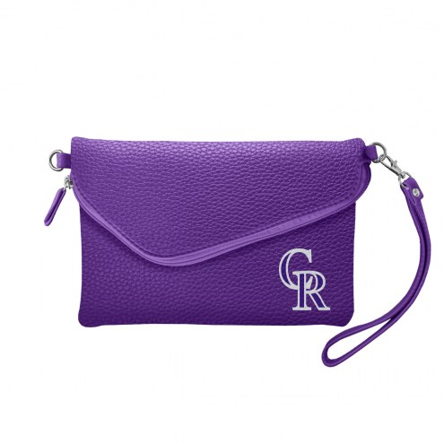 Colorado Rockies Pebble Fold Over Purse