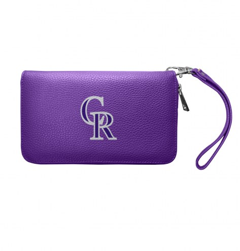 Colorado Rockies Pebble Organizer Wallet
