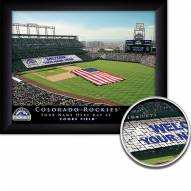Colorado Rockies 11 x 14 Personalized Framed Stadium Print