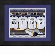 Colorado Rockies Personalized Locker Room 13 x 16 Framed Photograph