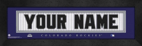 Colorado Rockies Personalized Stitched Jersey Print