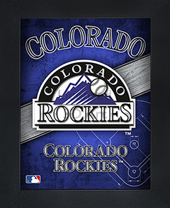 Colorado Rockies Framed 3D Wall Art