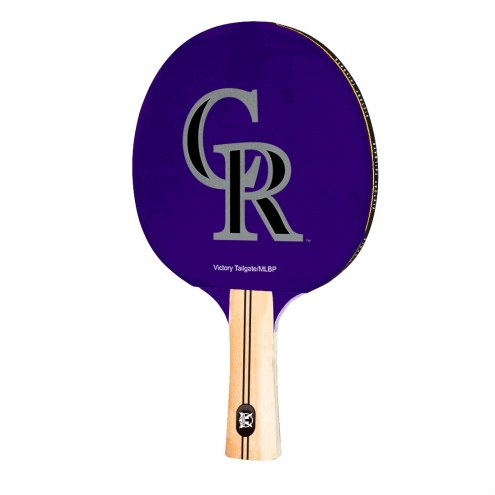 Colorado Rockies Ping Pong Paddle