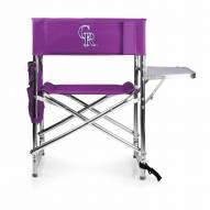 Colorado Rockies Purple Sports Folding Chair