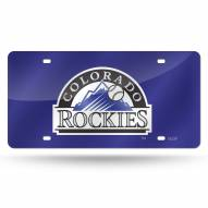 Colorado Rockies Laser Cut License Plate