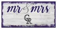 Colorado Rockies Script Mr. & Mrs. Sign
