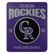 Colorado Rockies Southpaw Fleece Blanket