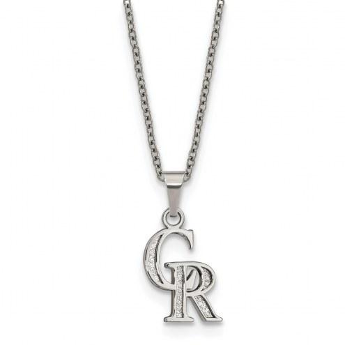 Colorado Rockies Stainless Steel Pendant Necklace