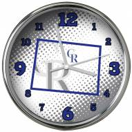 Colorado Rockies State of Mind Chrome Clock