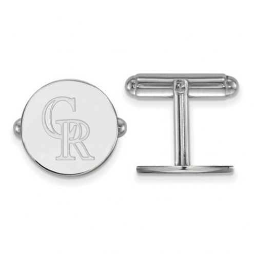 Colorado Rockies Sterling Silver Cuff Links