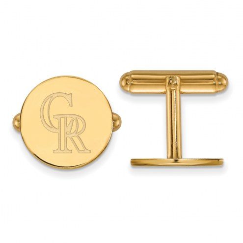 Colorado Rockies Sterling Silver Gold Plated Cuff Links