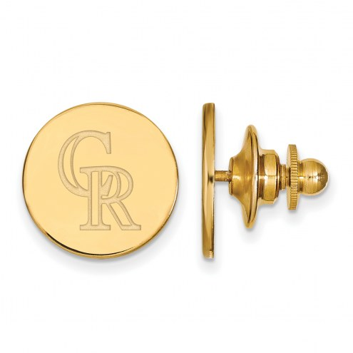Colorado Rockies Sterling Silver Gold Plated Lapel Pin