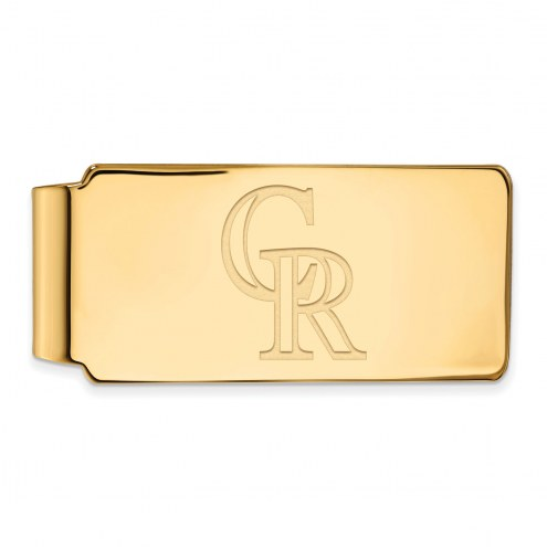 Colorado Rockies Sterling Silver Gold Plated Money Clip