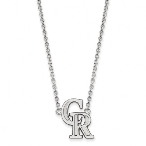 Colorado Rockies Sterling Silver Large Pendant Necklace