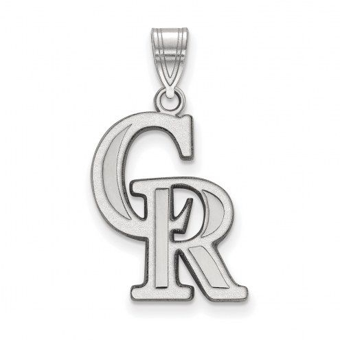 Colorado Rockies Sterling Silver Large Pendant