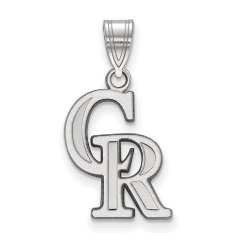 Colorado Rockies Sterling Silver Medium Pendant