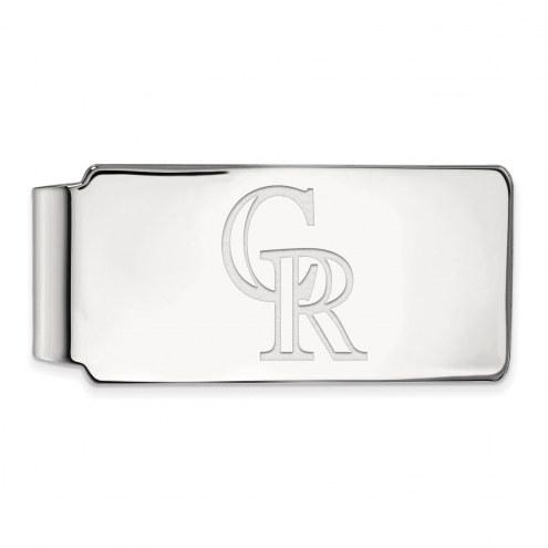 Colorado Rockies Sterling Silver Money Clip