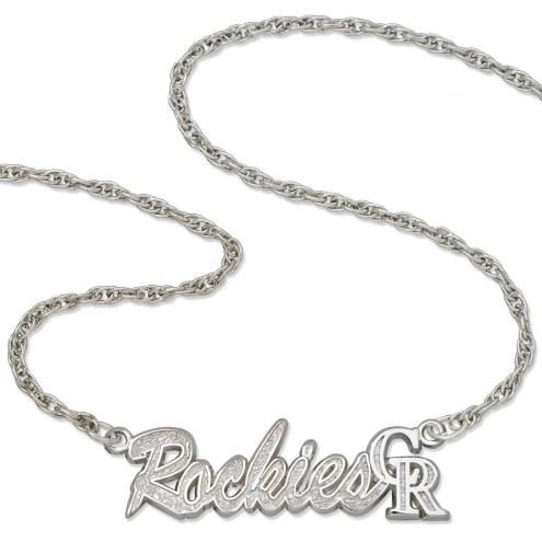 Colorado Rockies Sterling Silver Script Necklace