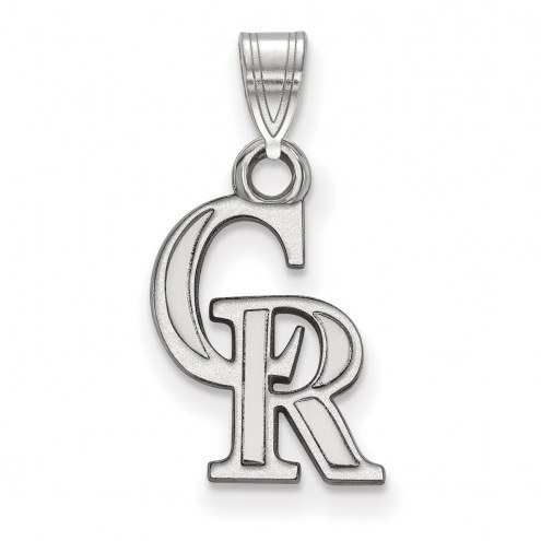 Colorado Rockies Sterling Silver Small Pendant