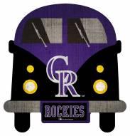 Colorado Rockies Team Bus Sign