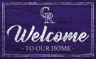 Colorado Rockies Team Color Welcome Sign