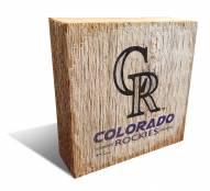 Colorado Rockies Team Logo Block