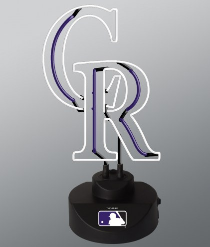 Colorado Rockies Team Logo Neon Lamp