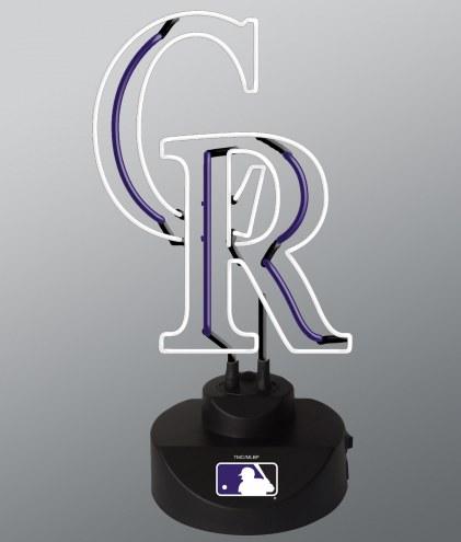 Colorado Rockies Team Logo Neon Lamp