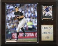 "Colorado Rockies Ubaldo Jimenez 12"" x 15"" Player Plaque"