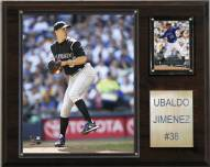 "Colorado Rockies Ubaldo Jimenez 12"" x 15"" Player Plaque"
