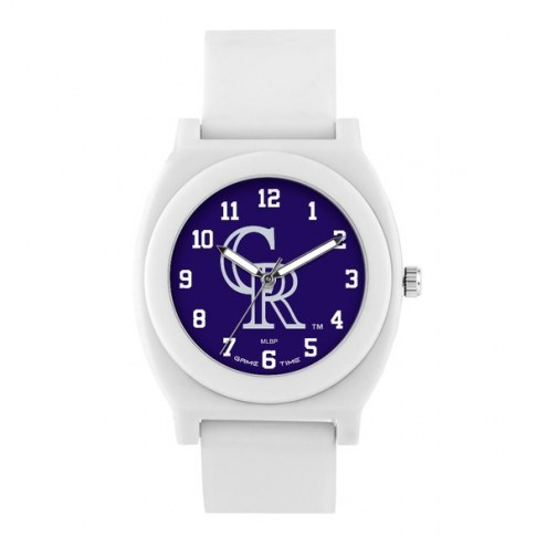 Colorado Rockies Unisex Fan White Watch