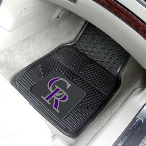 Colorado Rockies Vinyl 2-Piece Car Floor Mats