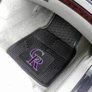 Colorado Rockies Vinyl 2-Piece Car Floor Mats
