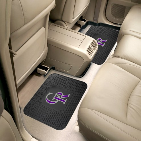 Colorado Rockies Vinyl 2-Piece Rear Floor Mats