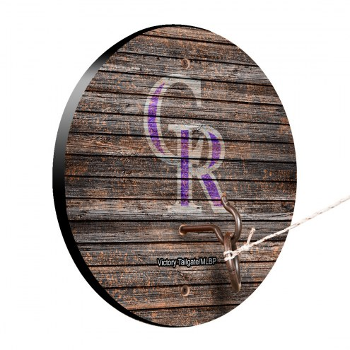 Colorado Rockies Weathered Design Hook & Ring Game