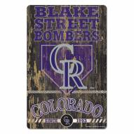 Colorado Rockies Slogan Wood Sign