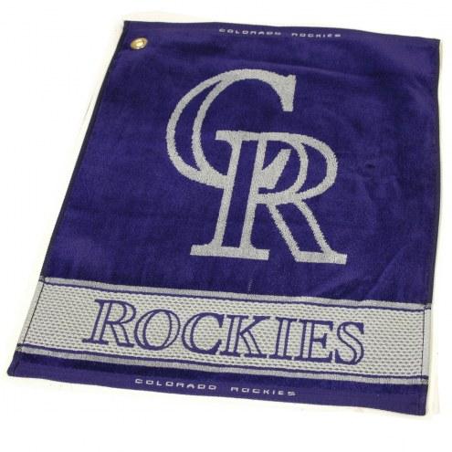 Colorado Rockies Woven Golf Towel