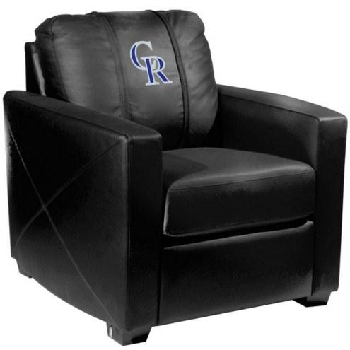 Colorado Rockies XZipit Silver Club Chair with Secondary Logo