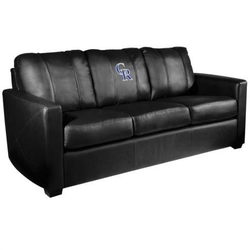 Colorado Rockies XZipit Silver Sofa with Secondary Logo