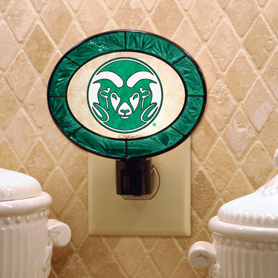Colorado State Rams Art Glass Night Light