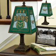 Colorado State Rams Art Glass Table Lamp
