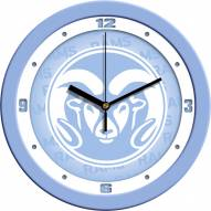 Colorado State Rams Baby Blue Wall Clock