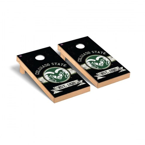 Colorado State Rams Banner Vintage Cornhole Game Set